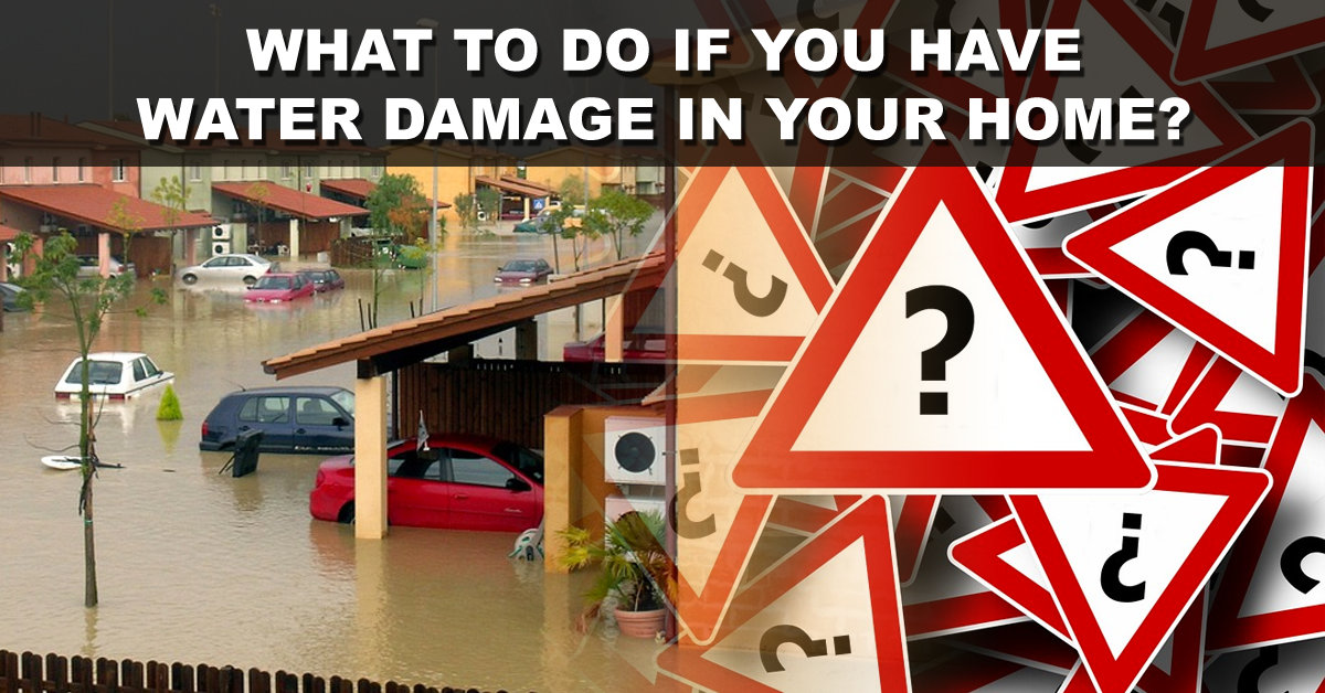 What To Do If You Have Water Damage In Your Home