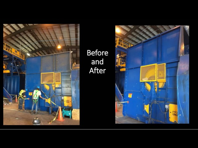 Commercial Fire Damage Restoration At St. Lucie Recycling Center