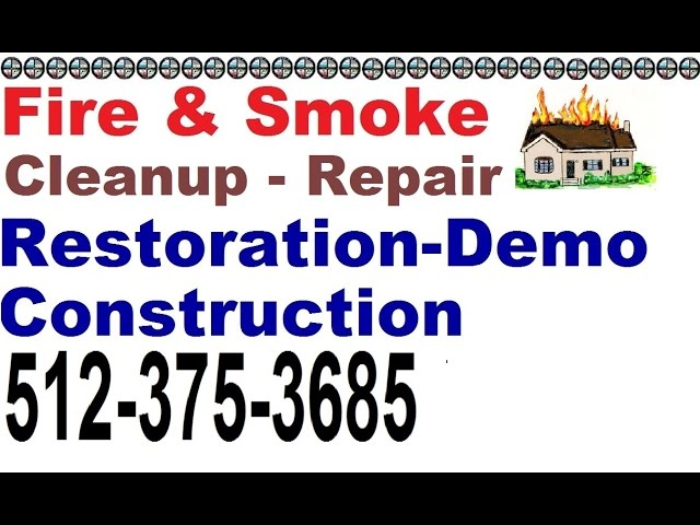 Cedar Park Fire Damage Restoration (512) 375 3685 :eander Repair Fire Smoke Soot Removal