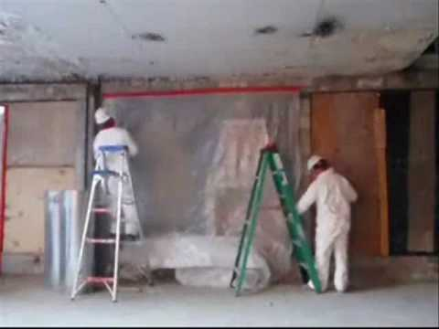 Mold Remediation – Containment Barrier Setup By Advanced Restoration, A DKI Member Company