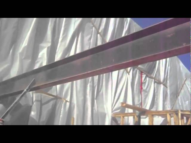 Soda Blasting On Fire Damage Steel Beams