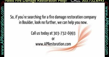 Fire Damage Restoration Boulder | 303.732.6993