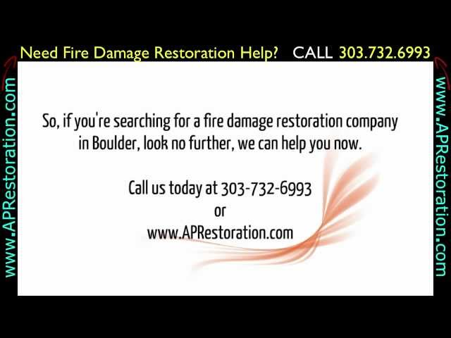 Fire Damage Restoration Boulder | 303.732.6993