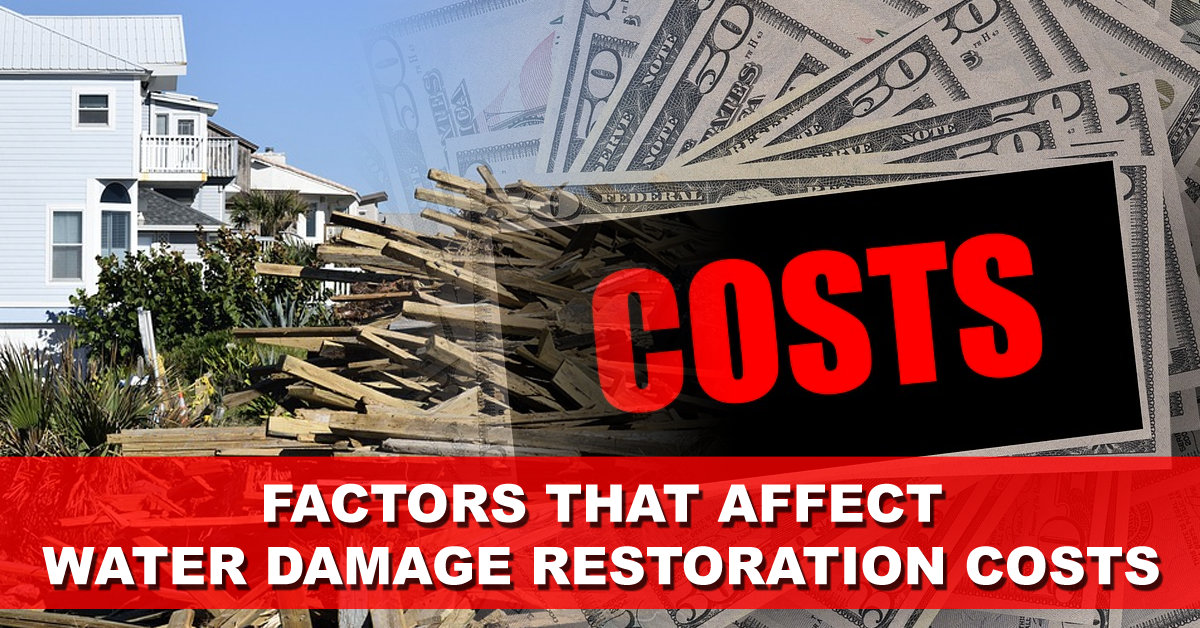 Factors That Affect Water Damage Restoration Costs