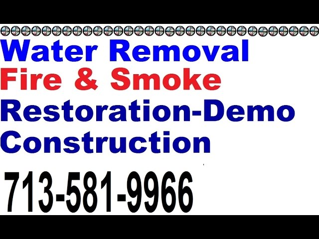 Water Damage Restoration Conroe (713) 581 9966 Conroe Water Removal Extraction