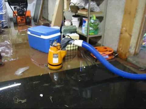 Water Damage Restoration AAA Flood Drying, MA NH | Pumping Out A Flooded Basement