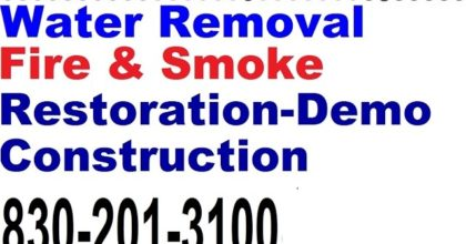 Water-Fire Damage Marble Falls 830-201-3100 24/7Flood Restoration Water Extraction Mold Removal